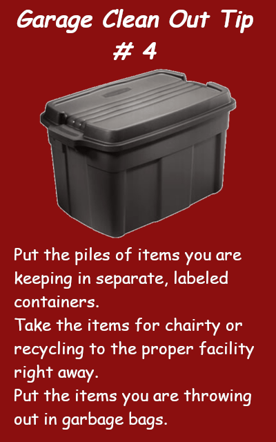 garage clean out tip #4