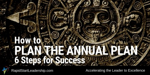 How to Plan the Annual Plan: 6 Steps for Success