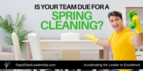 Team Spring Cleaning