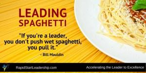 Leading Spaghetti
