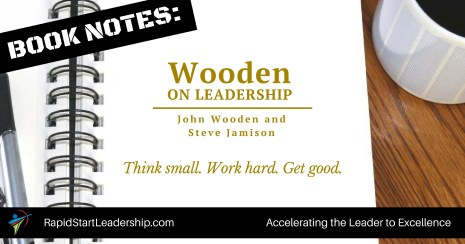 Book Notes - Wooden on Leadership