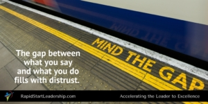Mind the Gap - Trust and Leadership