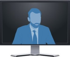Video Conference Characters - The Blue Man