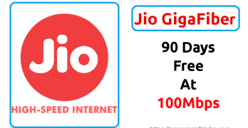 Jio GigaFiber Welcome Offer – 100 MBPS Broadband Service Free for 3 Months