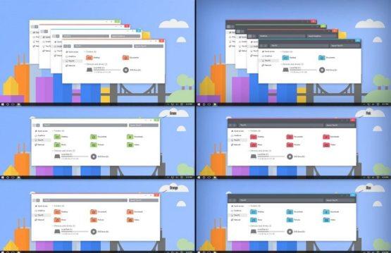 Flattastic theme for windows 10