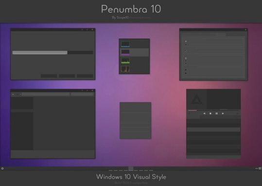 Penumbra 10 - Best theme for windows