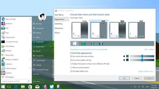 Start is Back - Best windows 10 themes