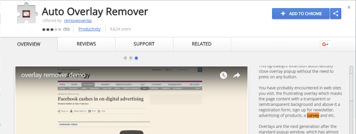 auto overlay remover survey bypass tool