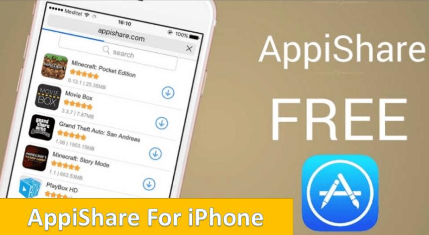 Appishare for iPhone, iOS