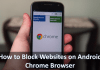 How to block websites on android chrome browser