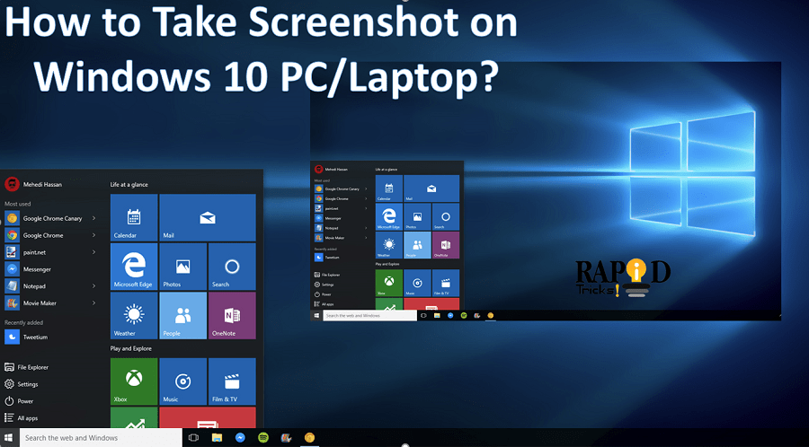 How to take screenshot on windows 10 pclaptop the easiest methods how to take screenshot on windows 10 pc ccuart Gallery