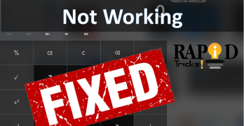 How to Fix Windows 10 Calculator Not Working Error