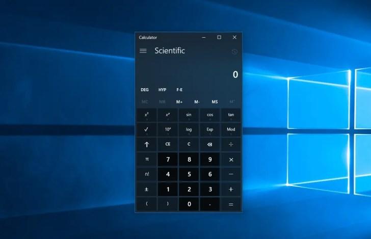 Windows 10 Calculator Not Working