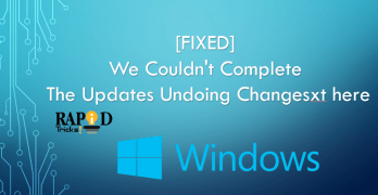 we couldn't complete the updates undoing changes
