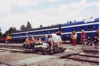 Relsiralli Rapla raudteejaamas, juuli 2003