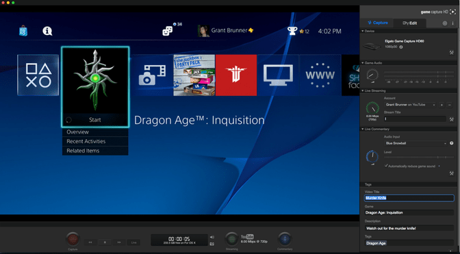 How to capture and stream video from a PS4