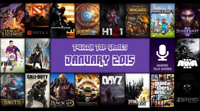 Top Twitch Games for January 2015