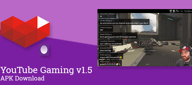 YouTube Gaming v1.5 adds chat overlay to full-screen videos, landscape orientation, watch history, a new easter egg, and more