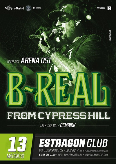 B-Real live a Bologna – 13 maggio 2016