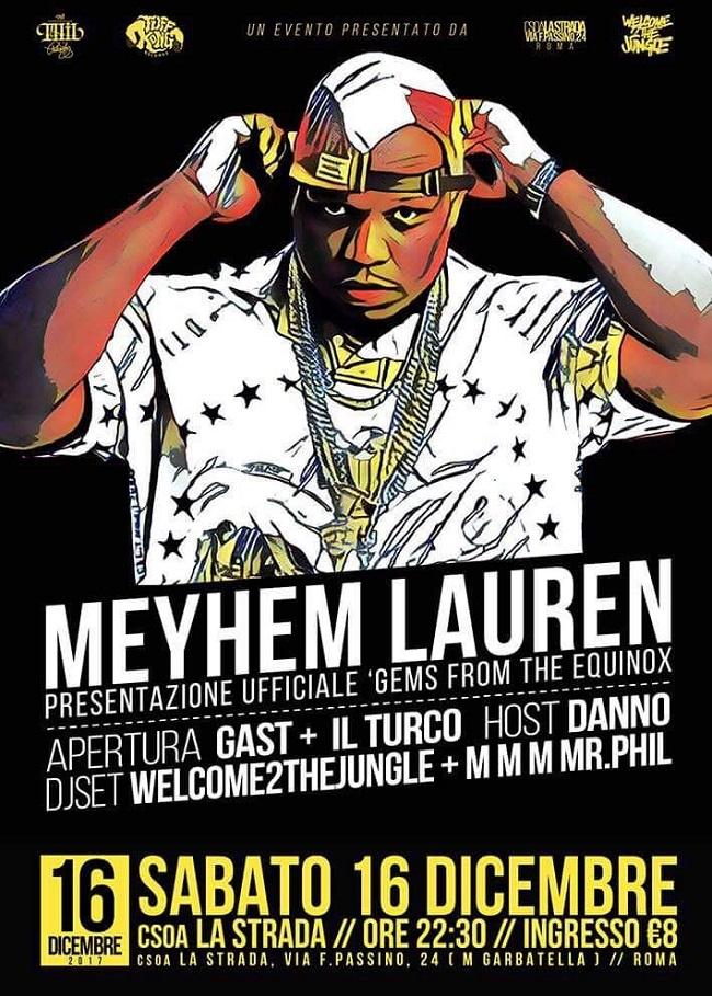 Meyhem Lauren live a Roma – 16/12/17