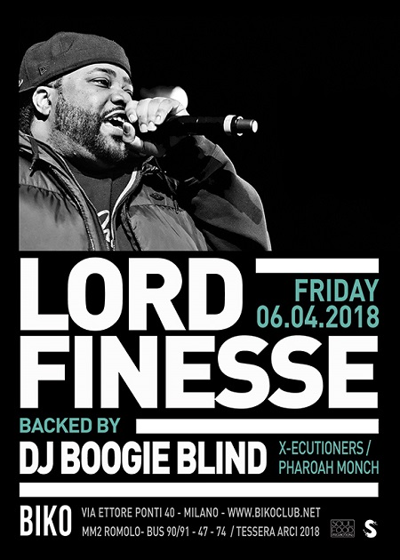 Lord Finesse live a Milano – 6 aprile 2018