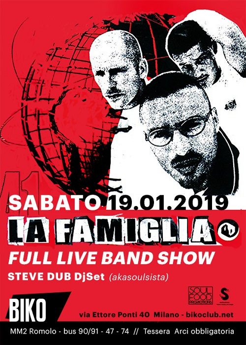 La Famiglia live al Biko di Milano il 19 gennaio!