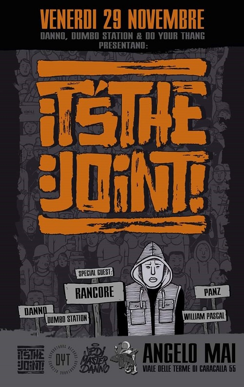 Rancore inaugura l'evento It's The Joint! all'Angelo Mai di Roma