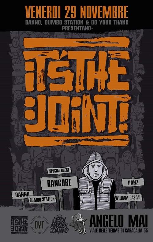 Rancore inaugura l'evento It's The Joint! all'Angelo Mai di Roma