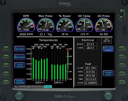 Avidyne EX500 multi-function display