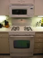 The new stove and microwave