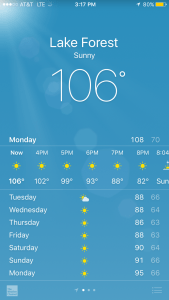 It does get this hot in California... but not usually so close to the coast!