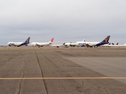 Roswell is home to more than just aliens. There are a lot of stored and retired airliners there as well.