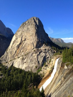Liberty Cap and Nevada Falls. We climbed to the very top!