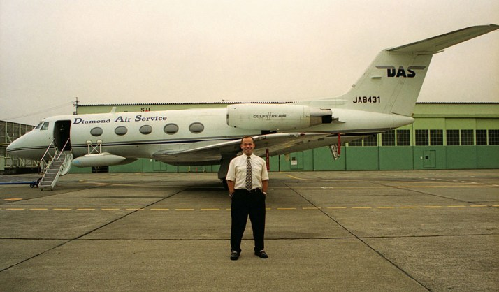 In October 1999, Matt made a pilgrimage to Nagoya, Japan in order to take pictures of this airplane. This was the only Gulfstream II that he'd never seen. The airplane was in use as a flying research laboratory and hardly ever flew outside of Japan, although ironically it was at Gulfstream's maintenance facility in Las Vegas for several weeks earlier this year for some kind of heavy check, which will seem to indicate it will continue flying for some time yet.