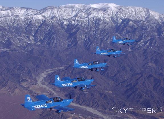 The west coast SkyTypers team