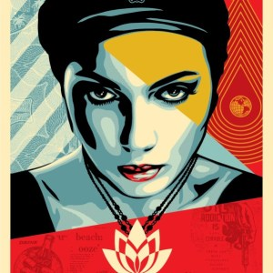 Rapport'Art - Oil Lotus Woman - shepard fairey