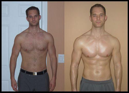 voor en na spier training