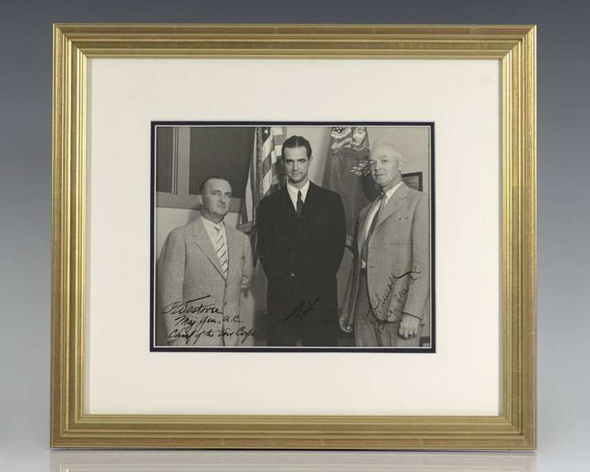 Howard Hughes Signed Photograph.