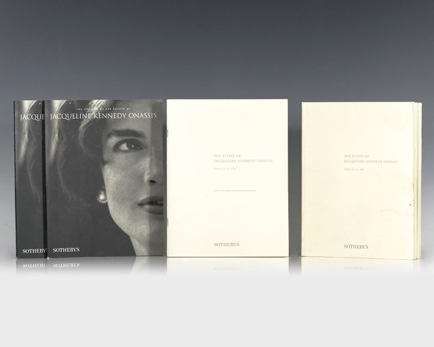 The Estate of Jacqueline Kennedy Onassis Sotheby's Auction Materials Collection.