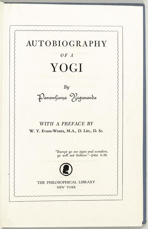 Autobiography of a Yogi.