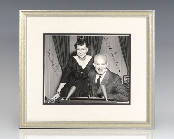 Dwight D. and Mamie Doud Eisenhower Signed Photograph.