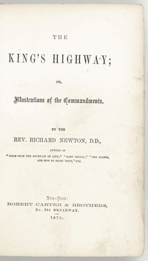 The King's Highway or Illustrations of the Commandments.