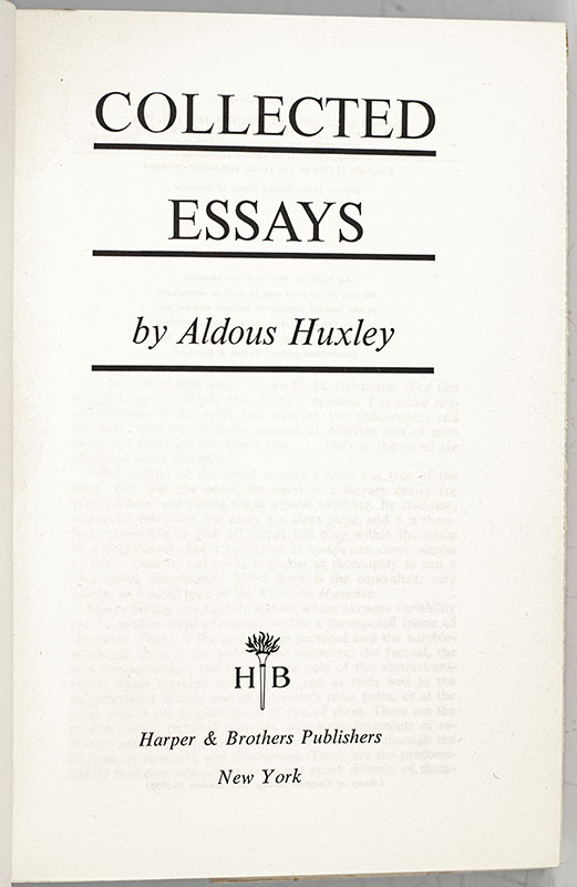 Collected Essays.