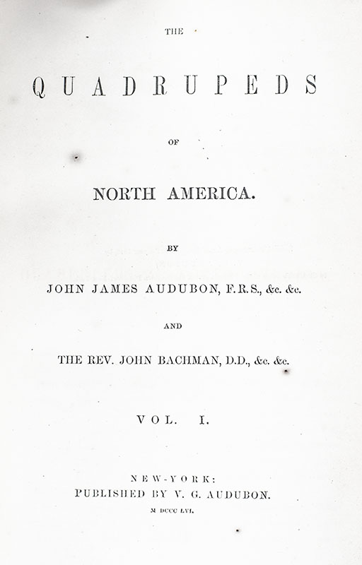 The Quadrupeds of North America.