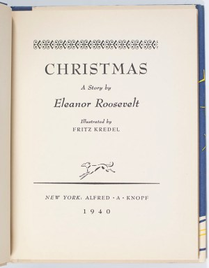 Christmas. A Story by Eleanor Roosevelt.
