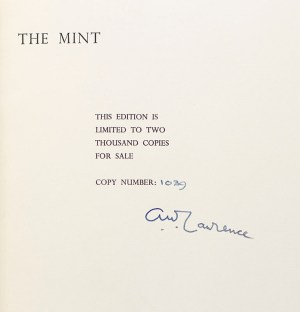The Mint: A Day-Book of the R.A.F. Depot Between August and December 1922 with Later Notes by 352087 A/C Ross.
