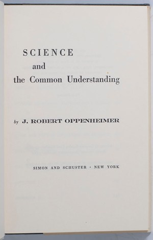 Science and the Common Understanding.