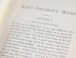 King Solomon's Mines.