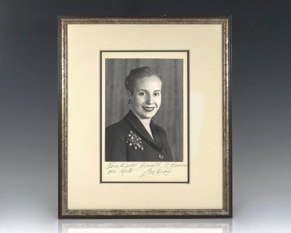 Eva Perón Signed Photograph.