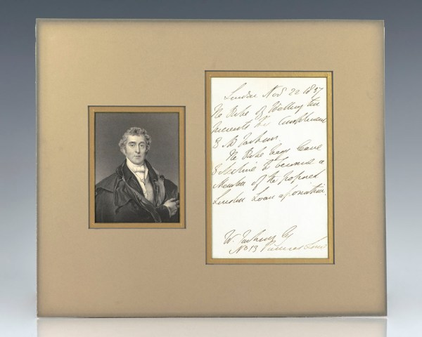 Duke of Wellington Autographed Letter Signed.
